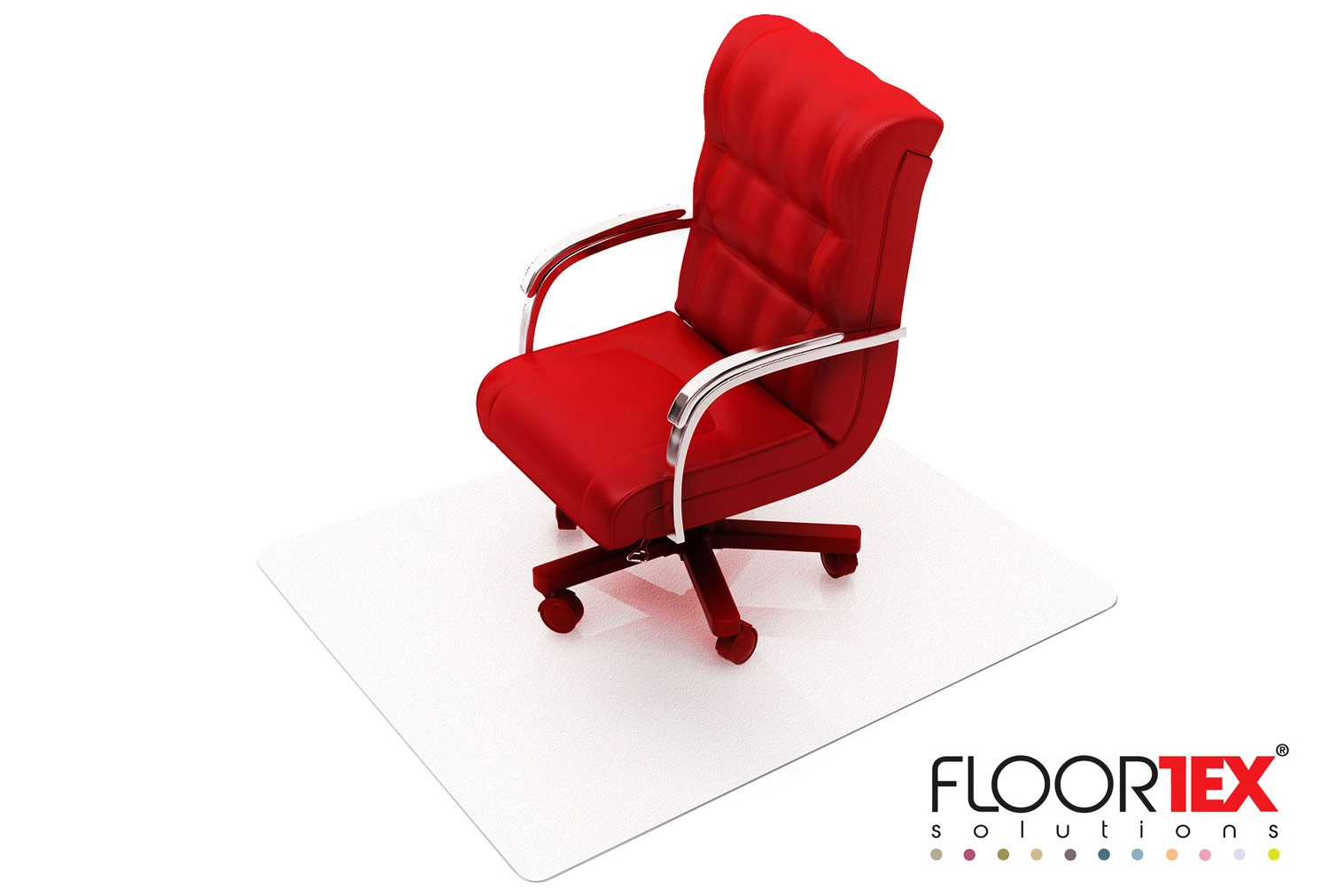 Cleartex XXL Poly Square Chair Mat For Hard Floors & Low Pile Carpets