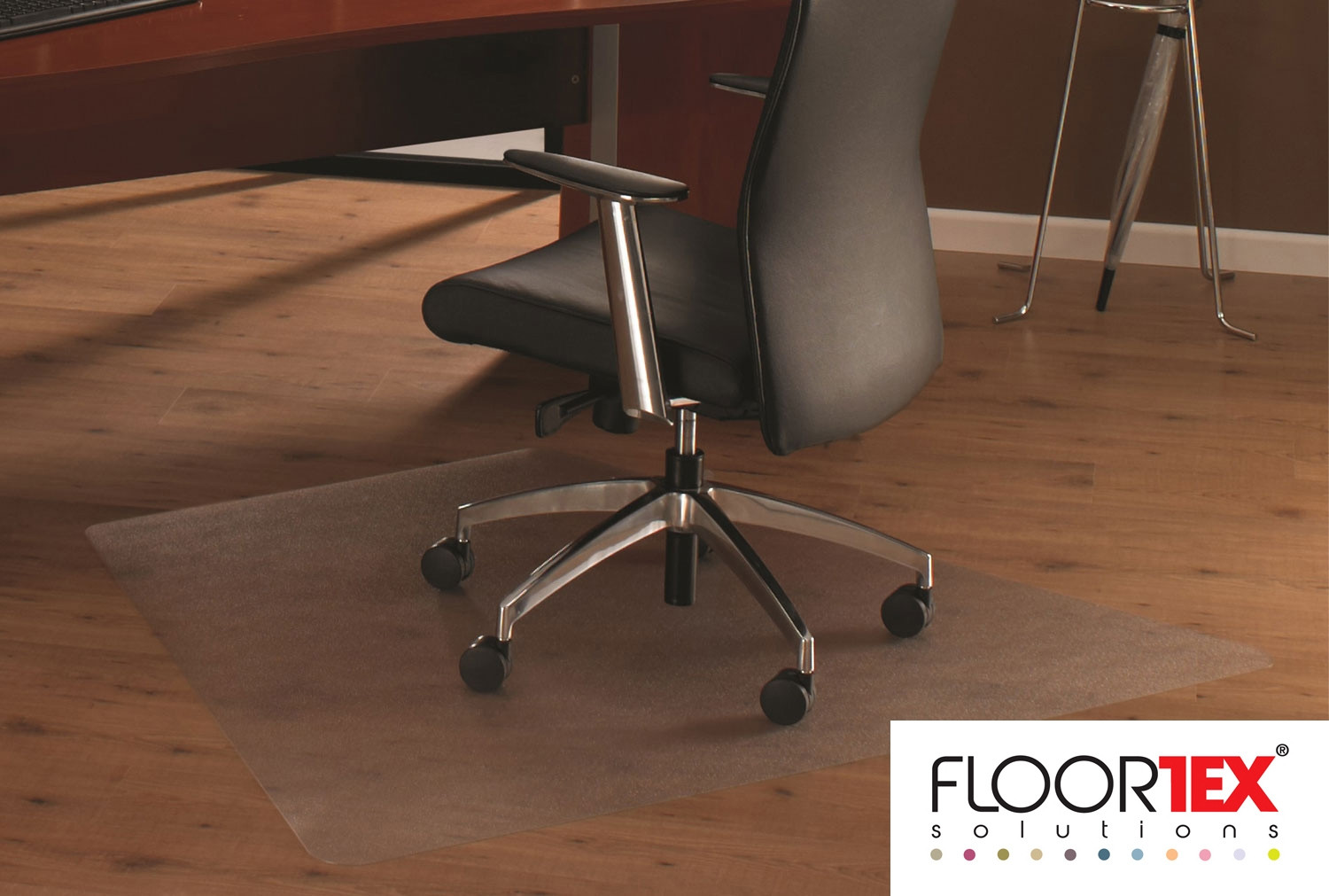 Cleartex Ultimat Poly Corner Workstation Chair Mat For Hard Floors