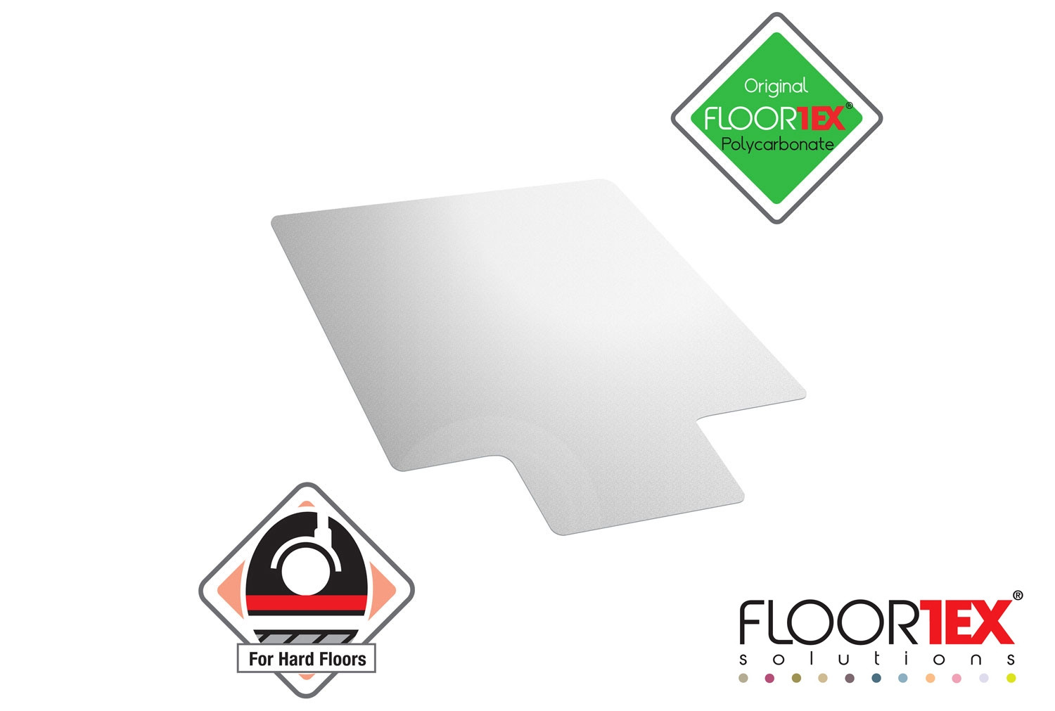 Cleartex Ultimat Poly Lipped Chair Mat For Hard Floors