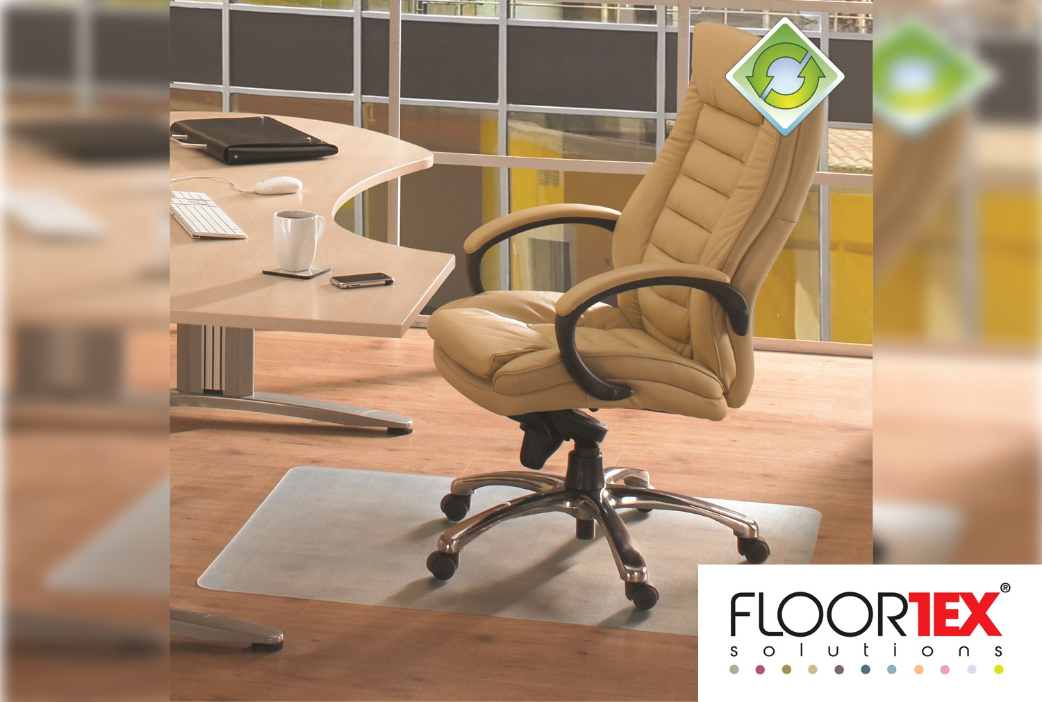 EcoTex Recyclable Chair Mat For Hard Floors