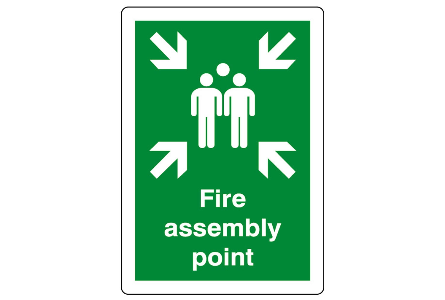 Fire Assembly Point Outdoor Sign Furniture At Work 174