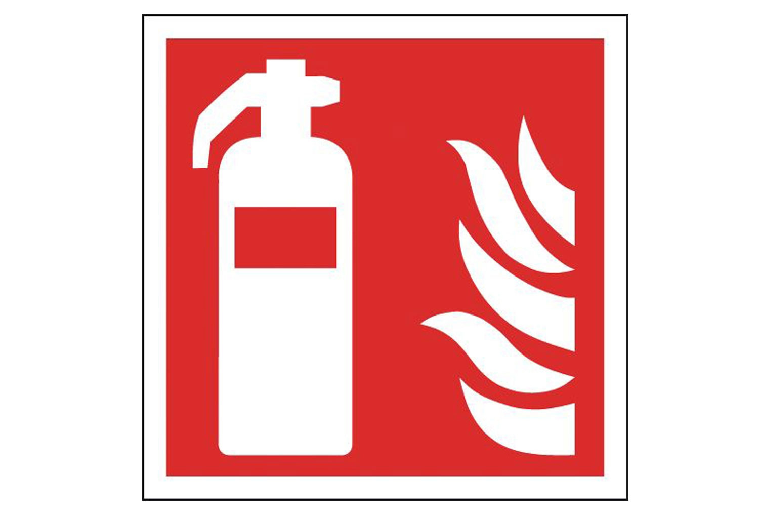 Fire Extinguisher Safety Sign (Symbols Only)