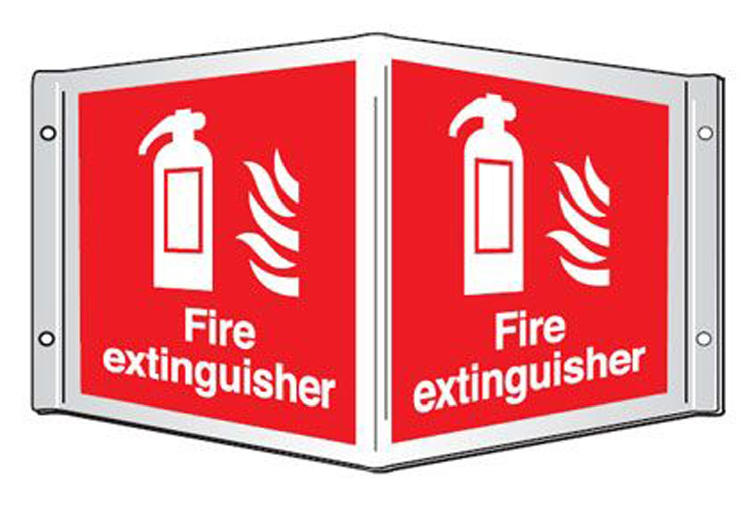 Fire Extinguisher Projecting 3D Sign
