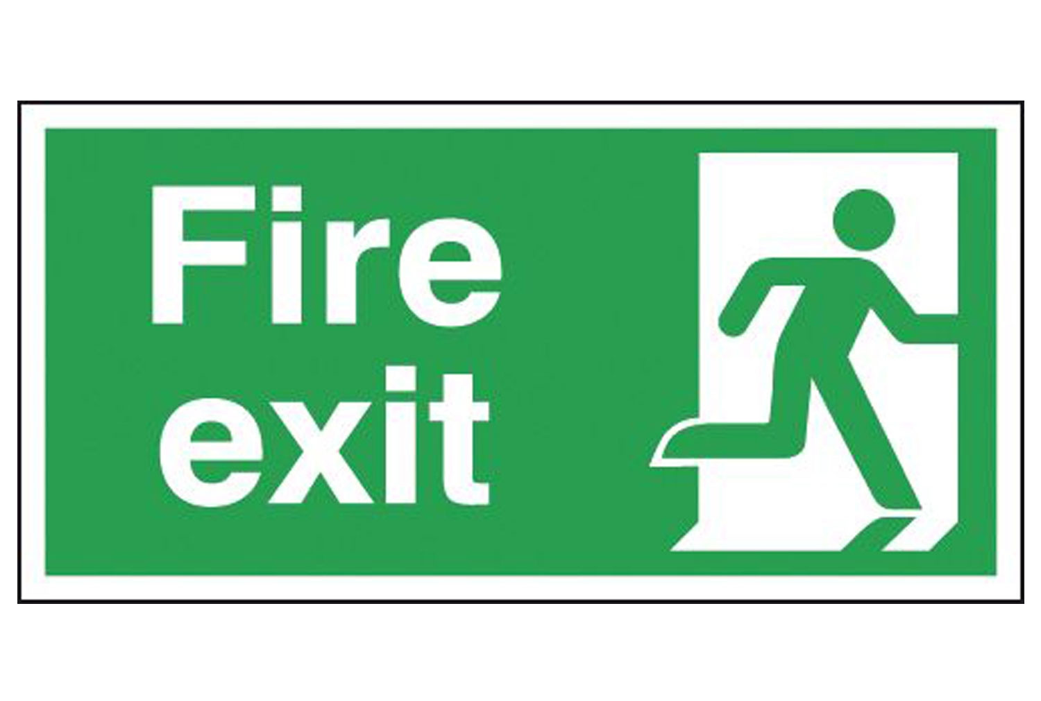 Fire Exit Running Man Right Self Extinguishing Sign