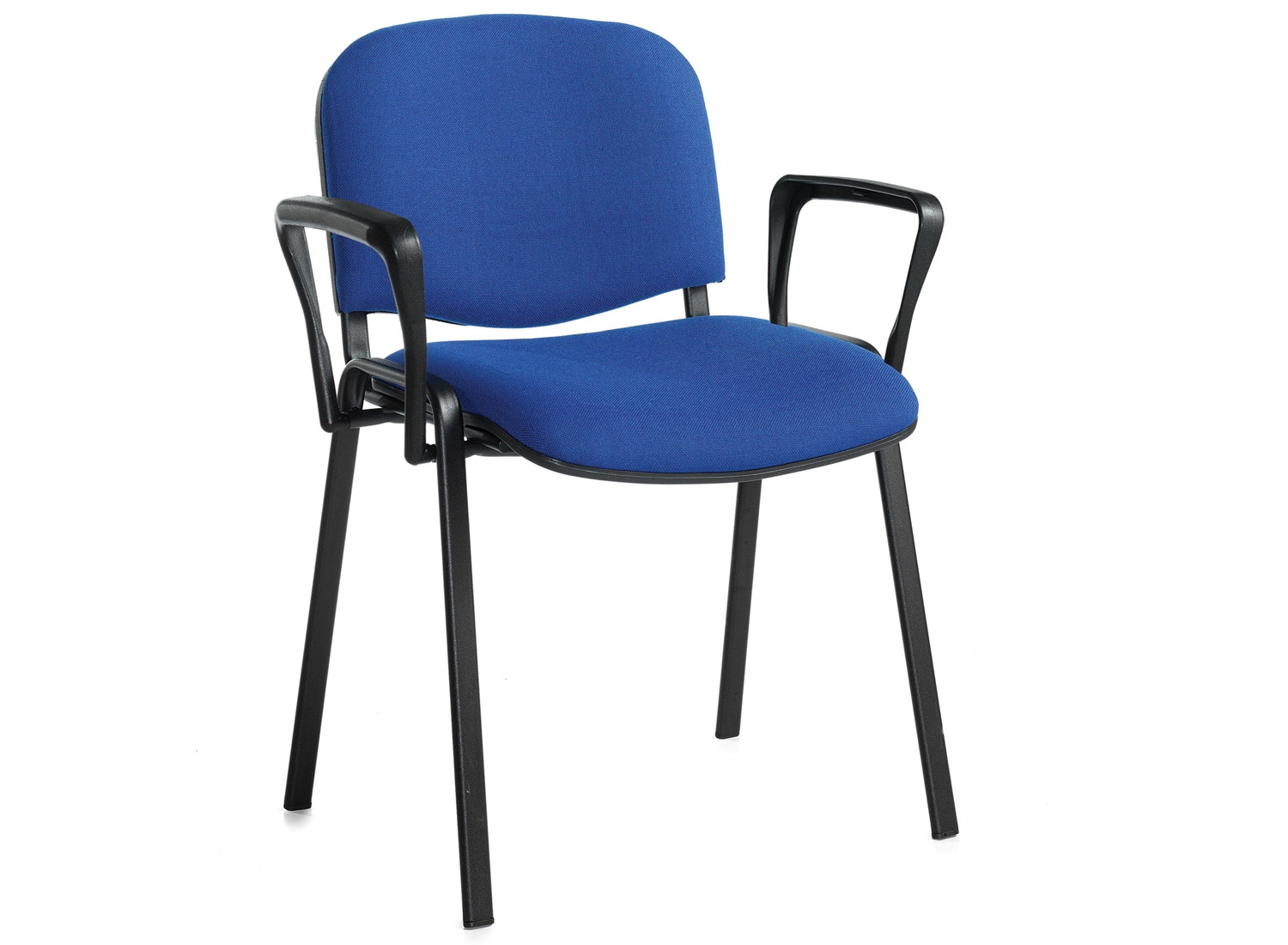Pack Of 4 Black Frame Conference Chairs With Arms