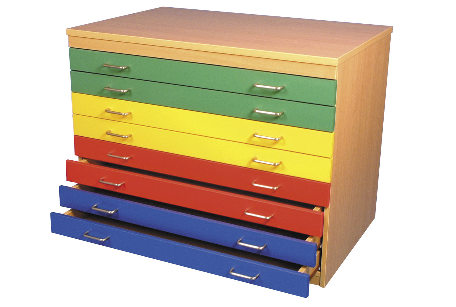 A1 Plan Chest With 8 Multicoloured Drawers