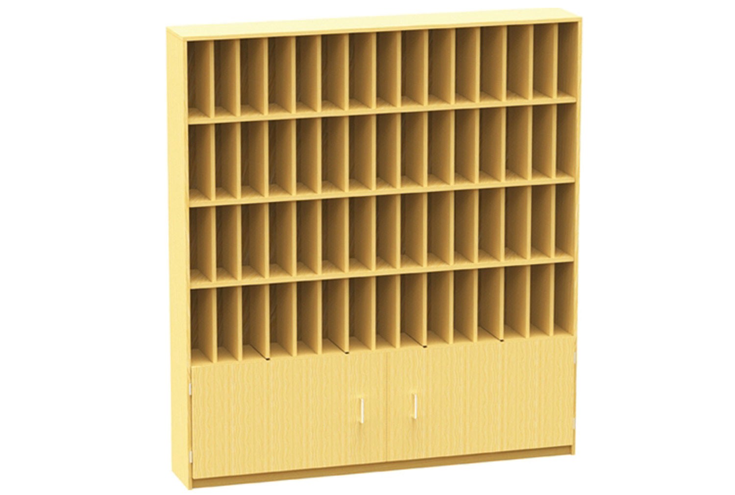60 Compartment Pigeon Hole Post Unit With Cupboard
