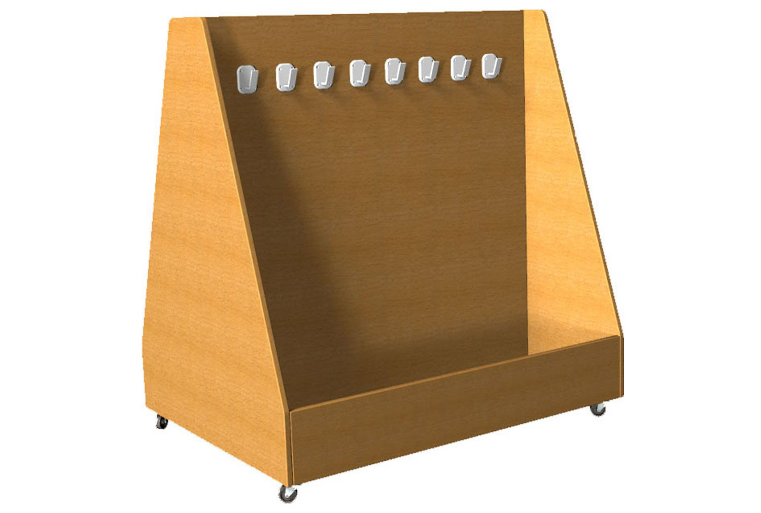 Double Sided Angled Cloakroom Trolley