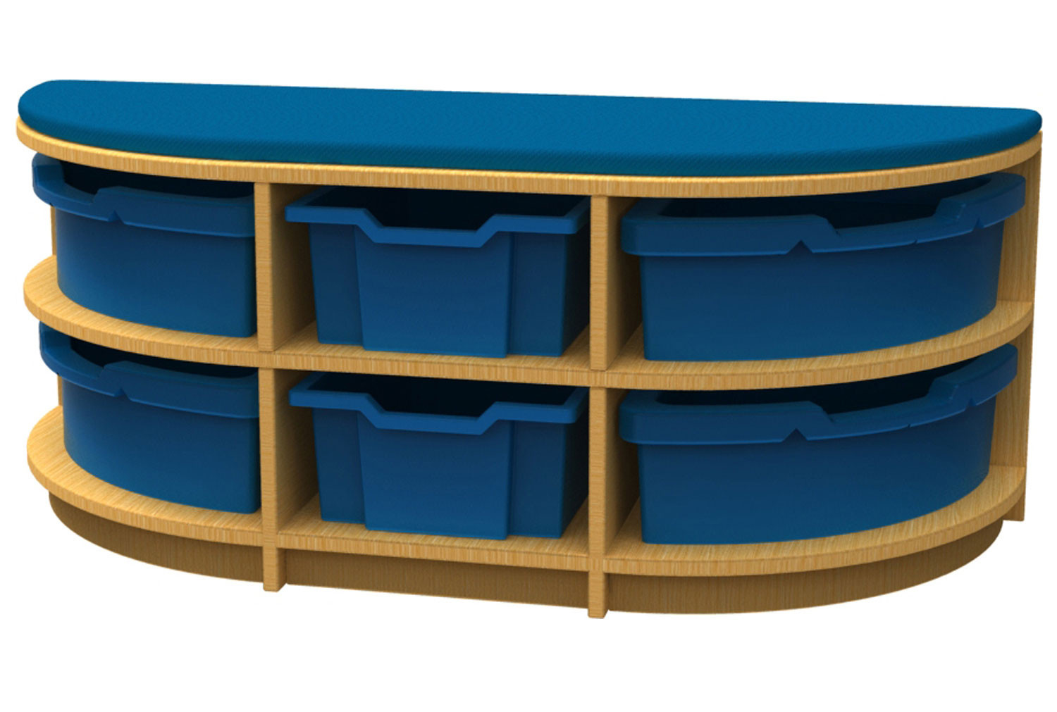 Arc D End Storage And Seating Unit With 6 Trays