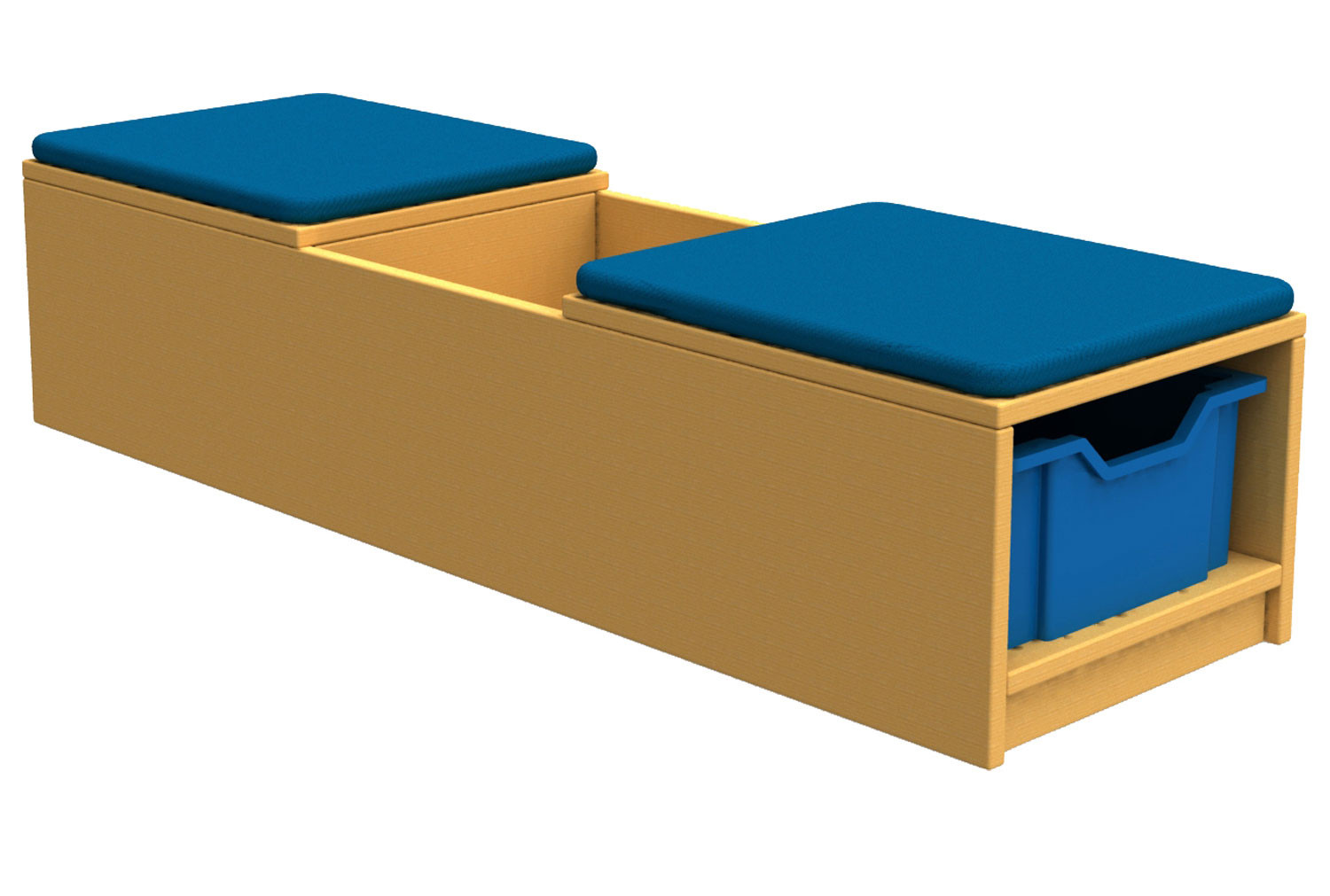 Arc Book Storage And Seating Unit With 2 Trays