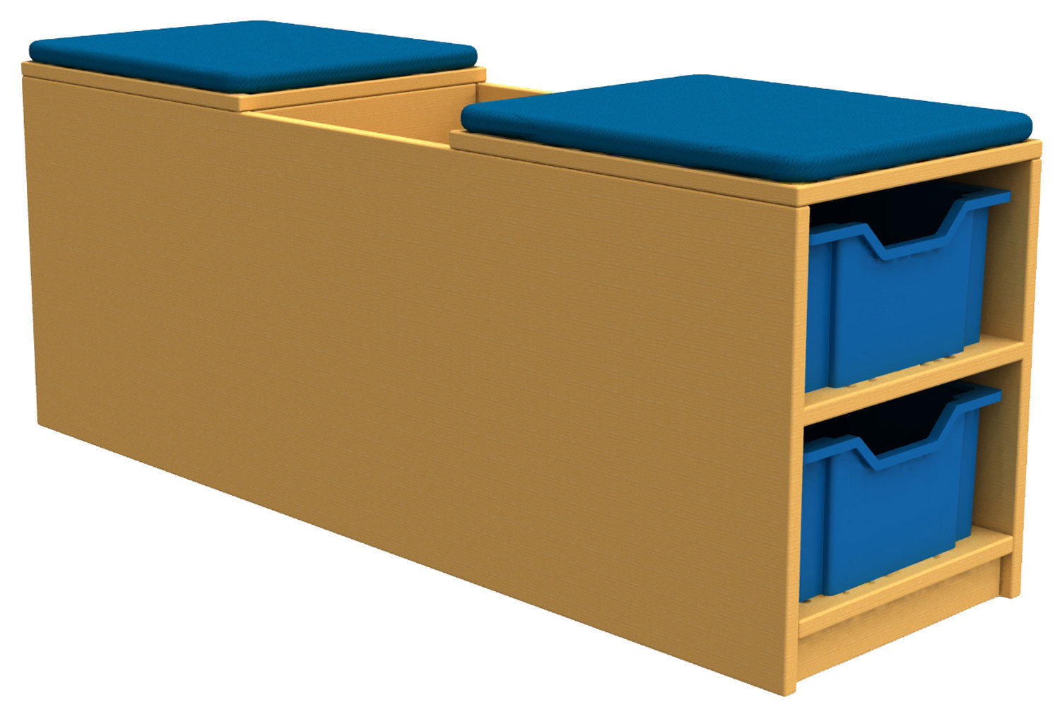Arc Book Storage And Seating Unit With 4 Trays