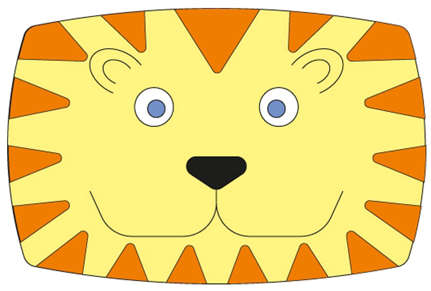Fun Jungle Themed Room Dividers (Lion)