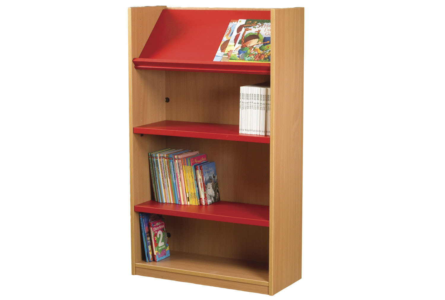 Nucleus Single Sided Bookcase With Display Top