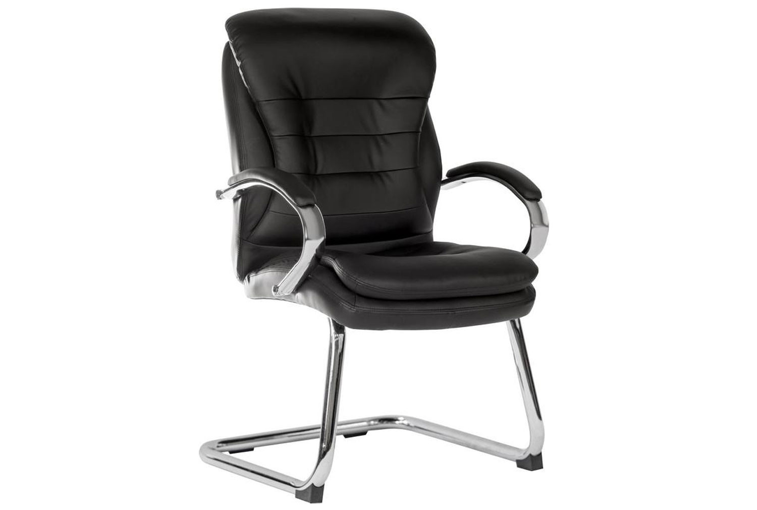 Colossal Light Leather Faced Visitor Chair