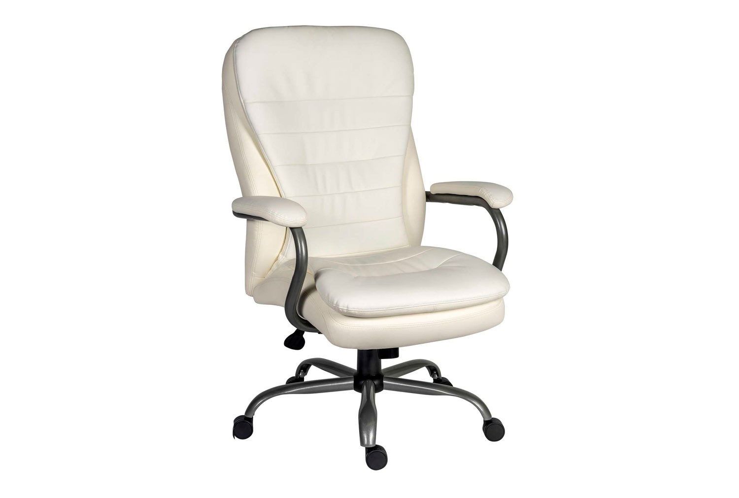 Colossal Leather Faced Executive White Chair