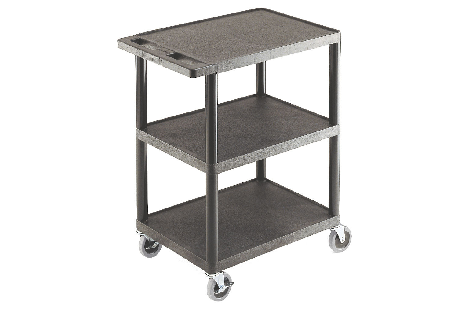 Multi Purpose Plastic Trolleys With 3 Flat Shelves (150kg Capacity)