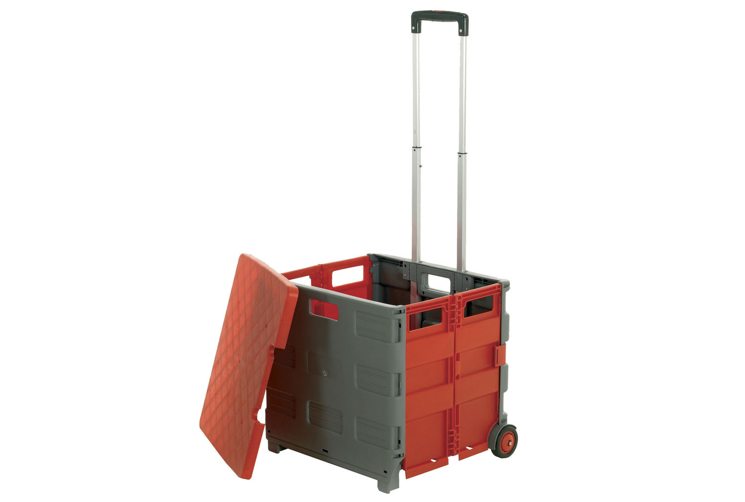 Folding Box Truck With Lid (35kg Capacity)
