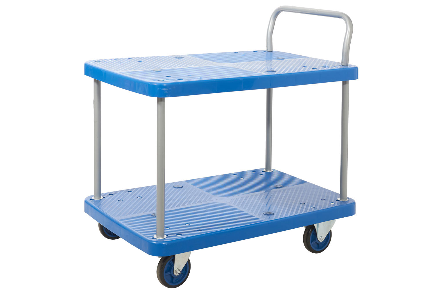 Proplaz Blue Two Tier Trolley (300kg Capacity)