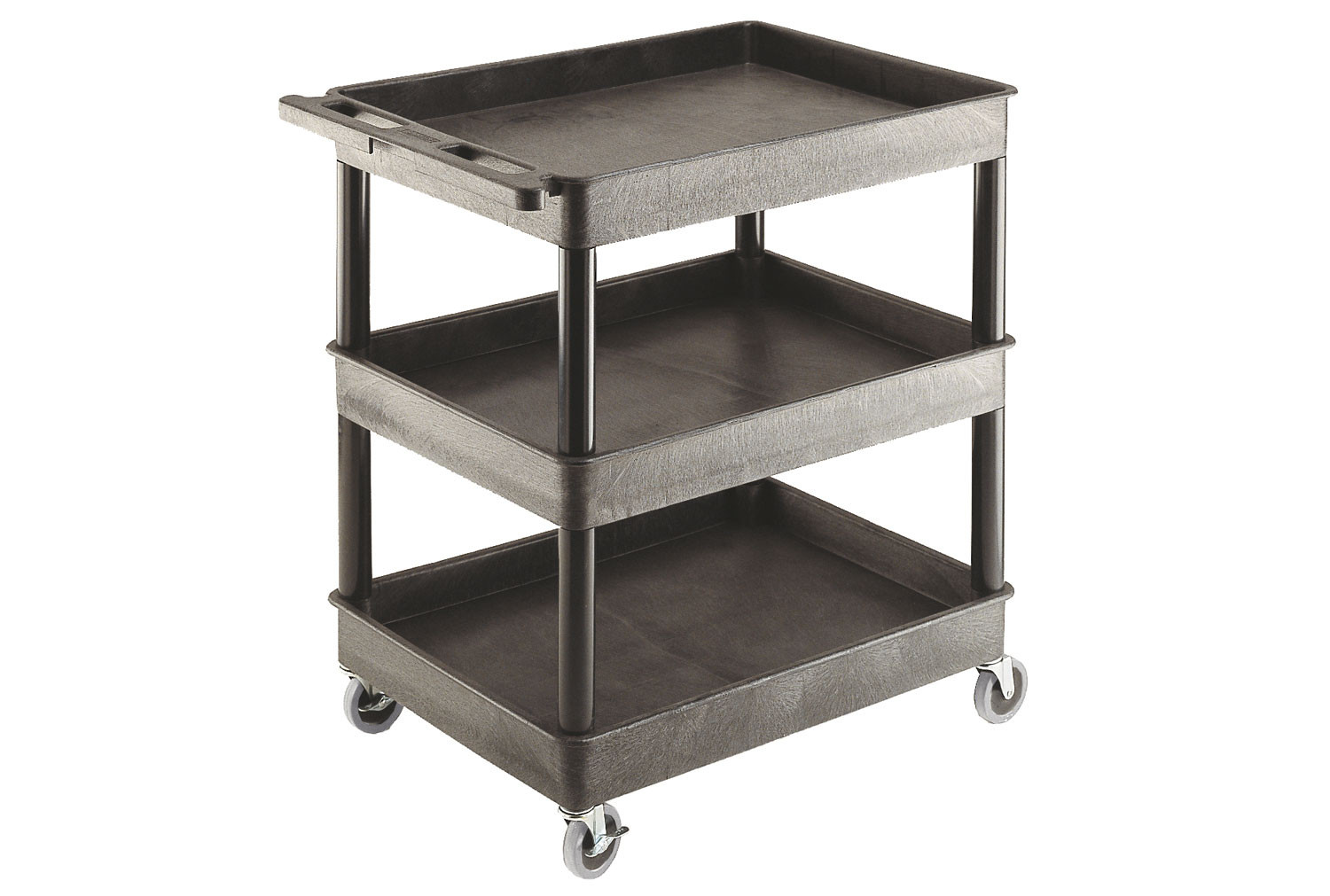 Plastic Multi Purpose Trolley With 3 Shelves (175kg Capacity)