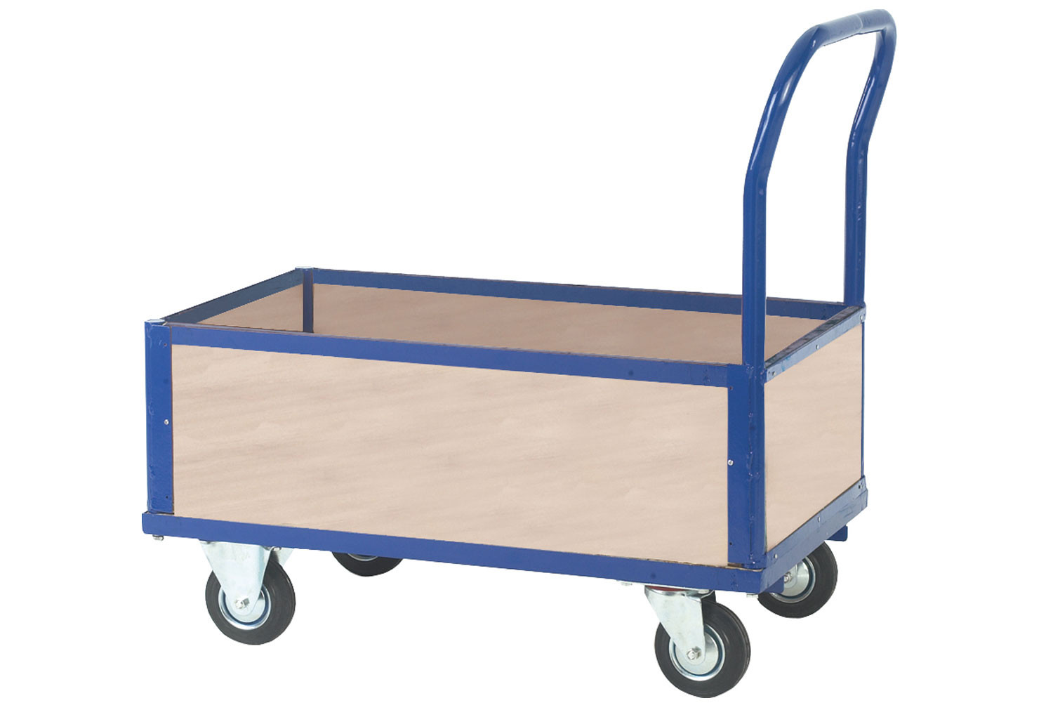 Platform Truck With 4 x Half Plywood Sides (500kg Capacity)