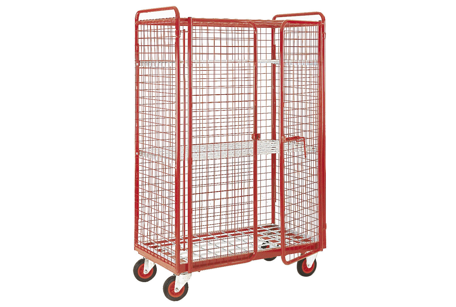 Narrow Aisle Full Security Distribution Truck With 2 Shelves