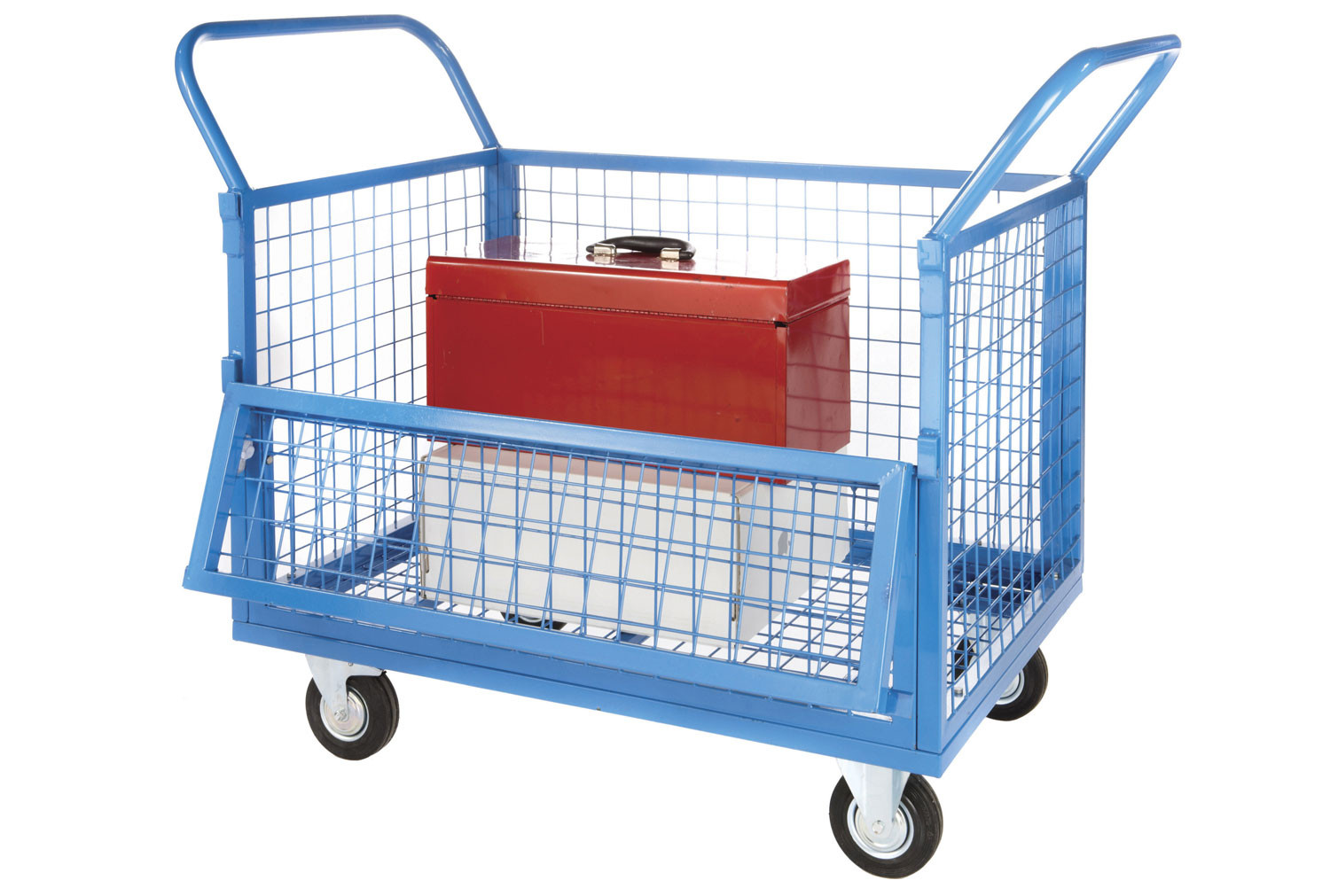 Wire Mesh Truck With Half Drop Down Front (250kg Capacity)