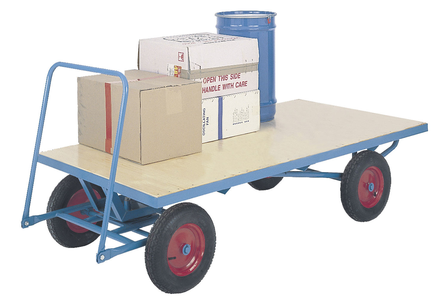 Flat Turntable Truck With Plywood Base
