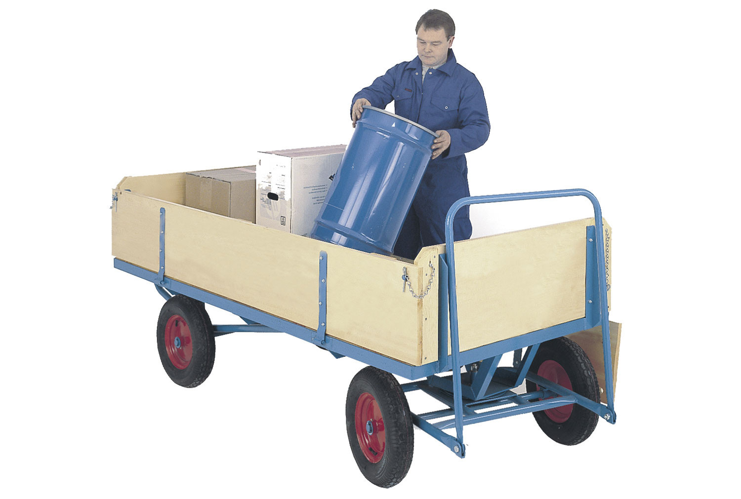 Flat Turntable Truck With Plywood Base With Sides And Ends