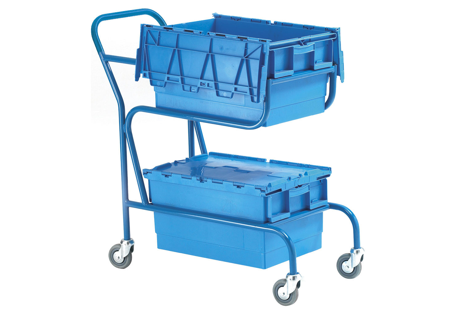 Distribution Container Trolley With 2 Containers (50kg Capacity)