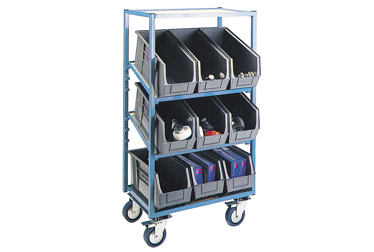 Stock Trolley With 9 Bins