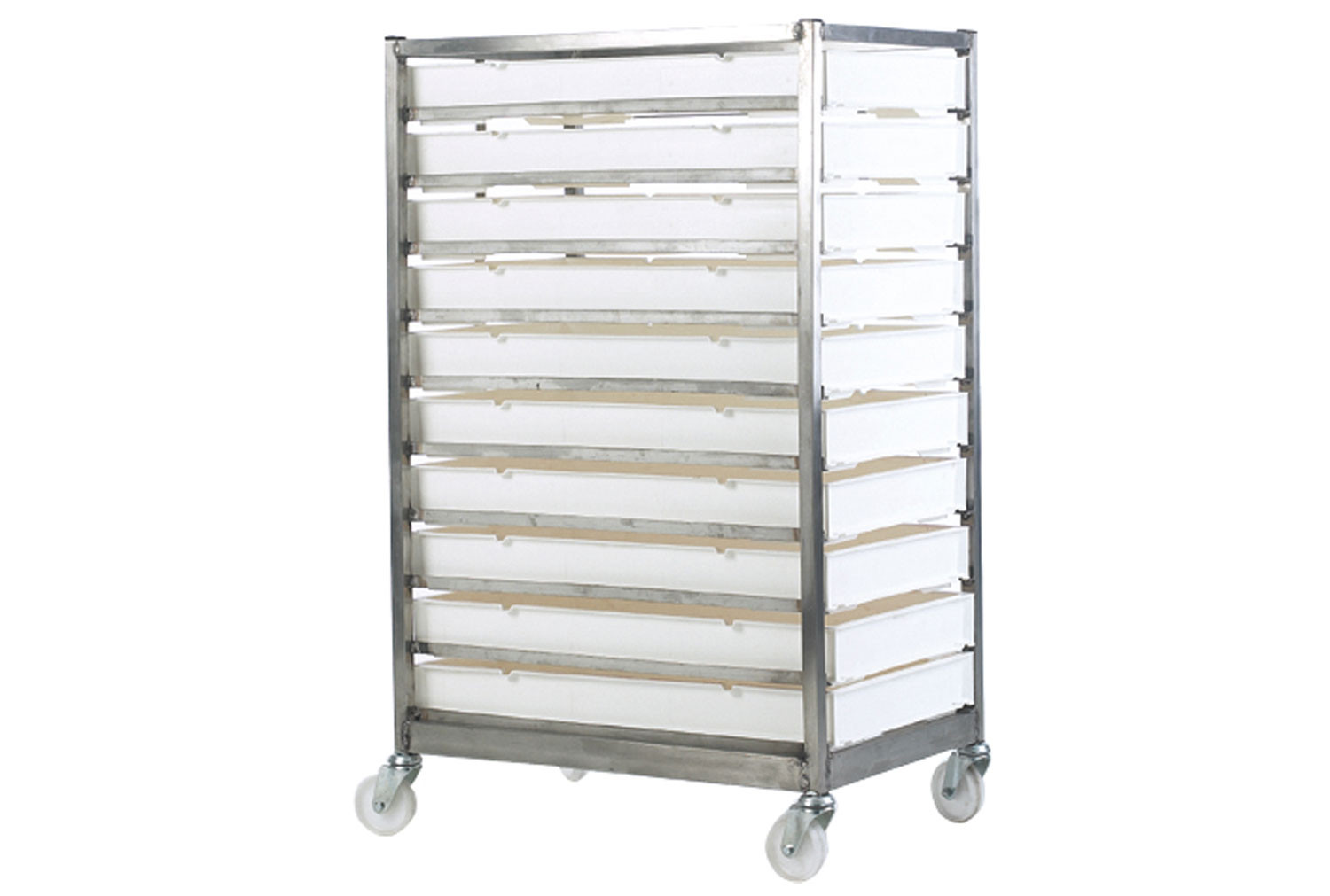 Mobile Stainless Steel Tray Rack With Trays