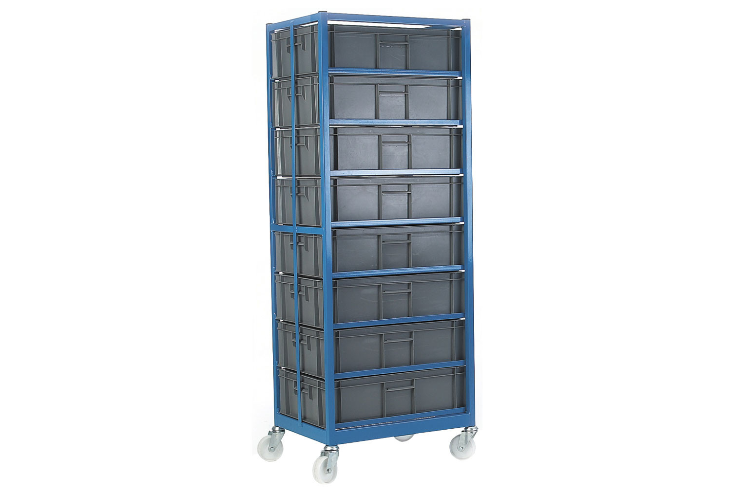 Mobile Container Racks With 8 Containers