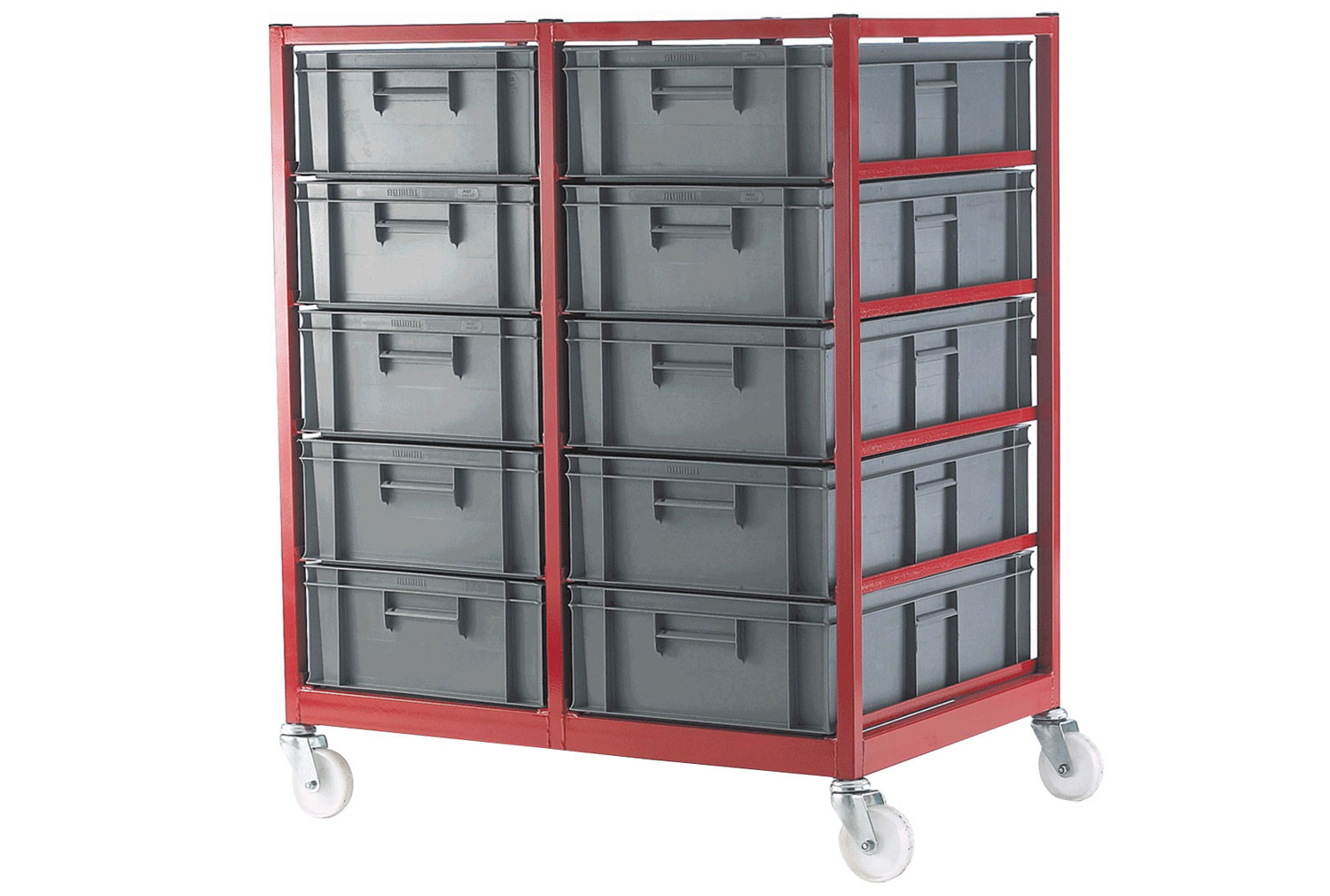 Mobile Container Racks With 10 Containers