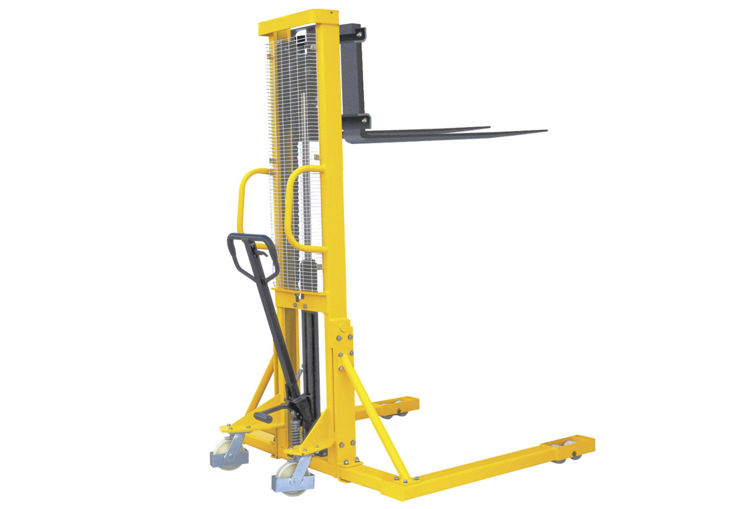Hydraulic Stacker With Straddle Fork