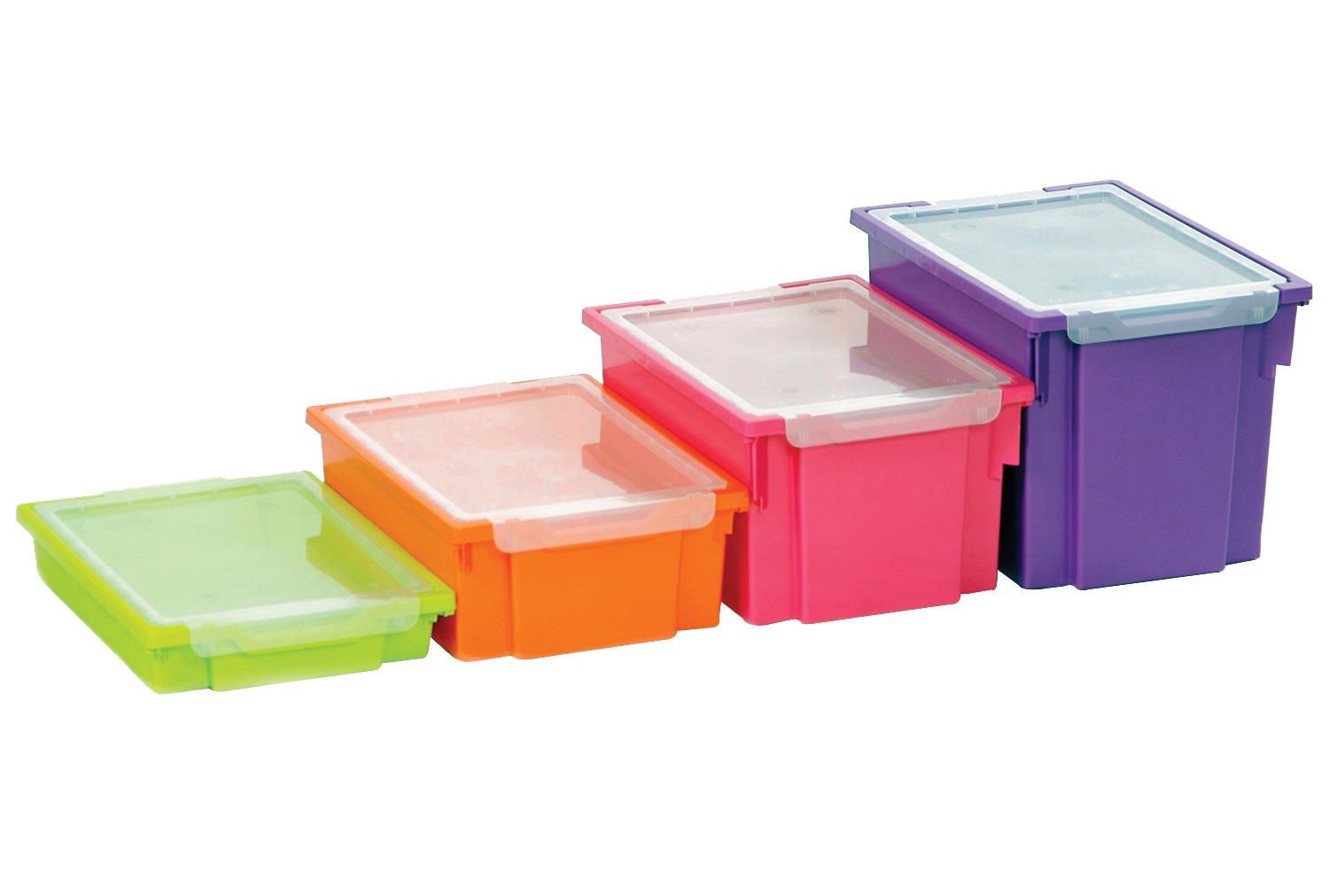 Pack Of 6 Clip On Lid For Gratnell Trays