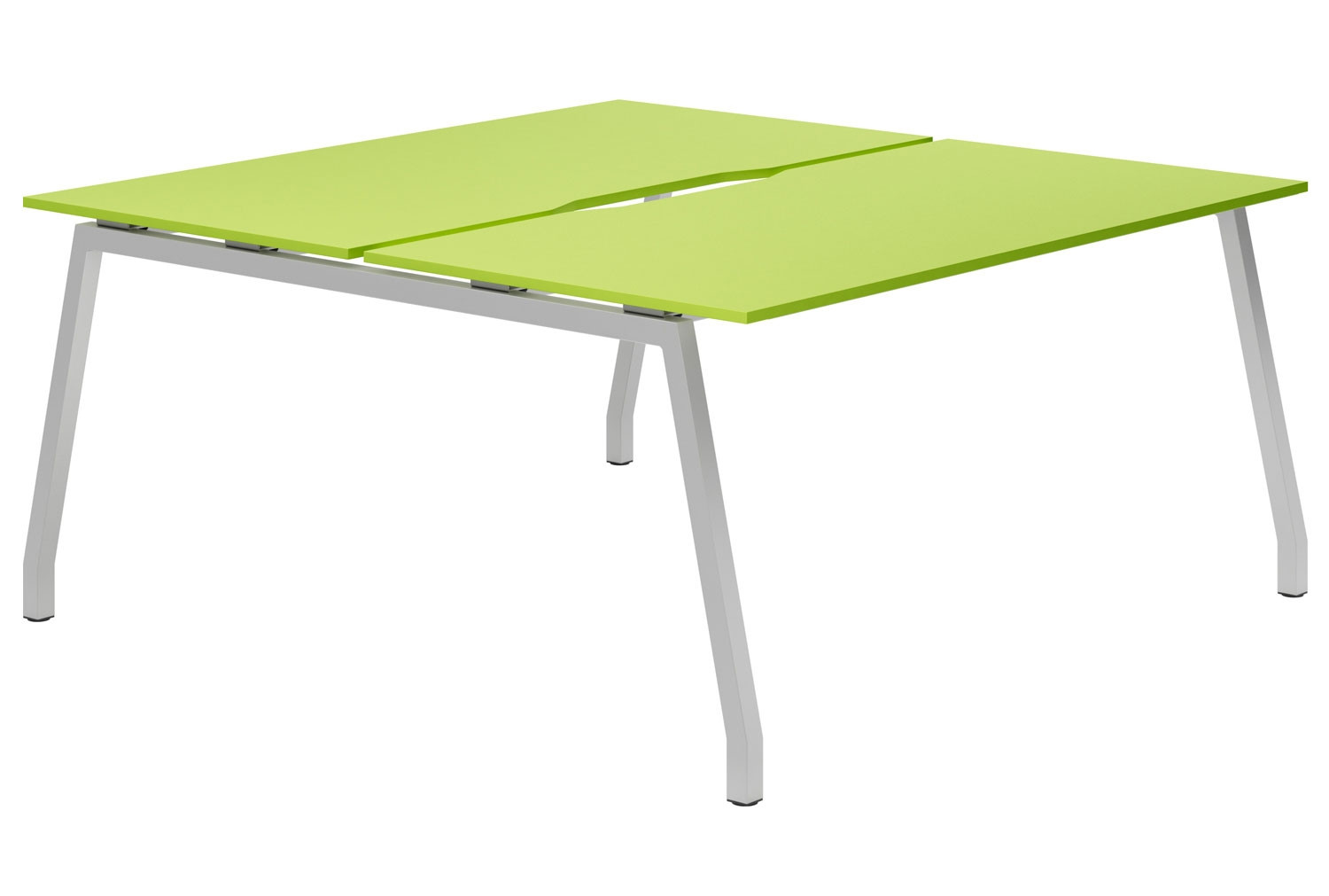Next-Day Campos A-Frame 2 Person Back To Back Bench Desk (Green)