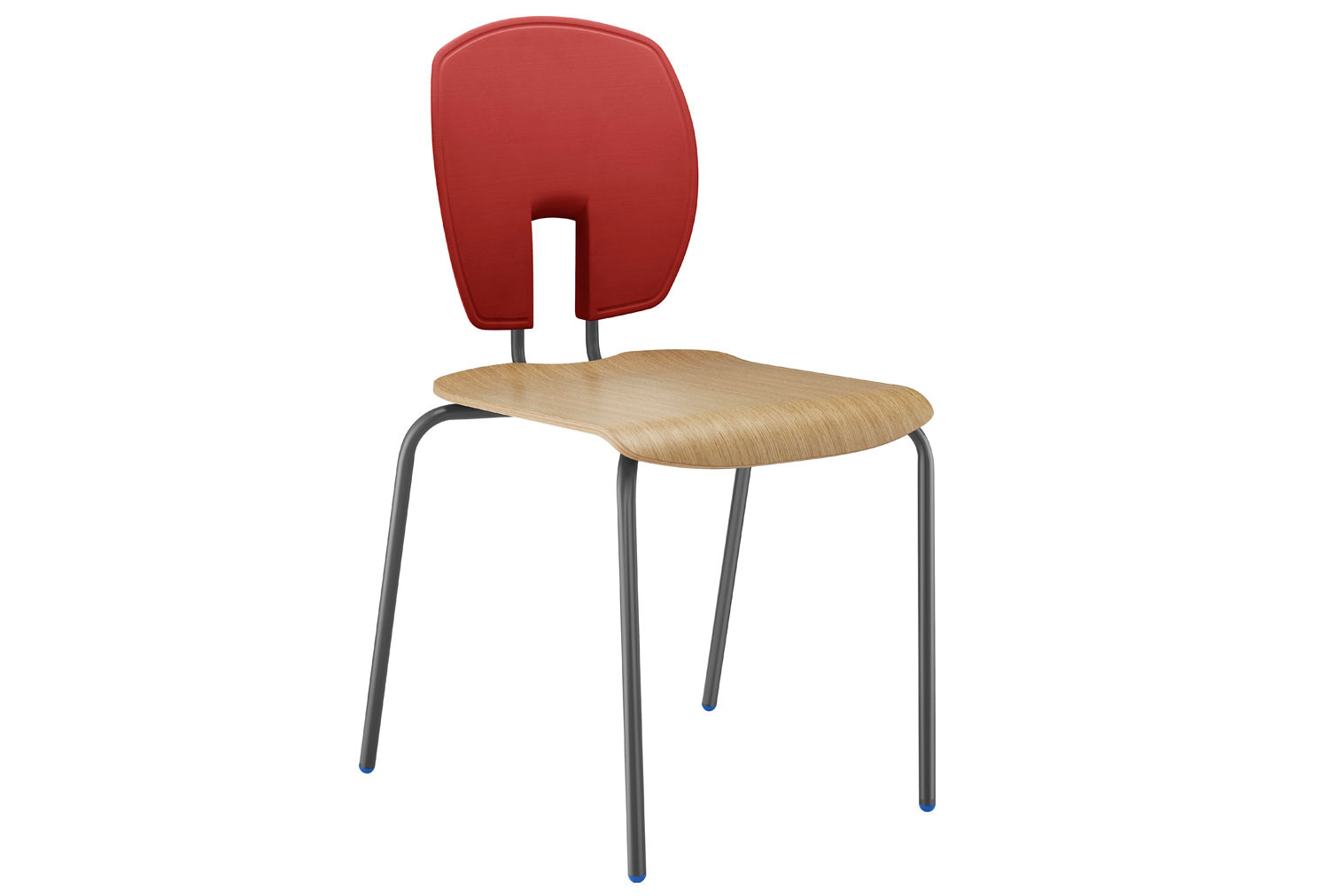 Hille SE Curve Ergonomic Classroom Chair With Wooden Seat
