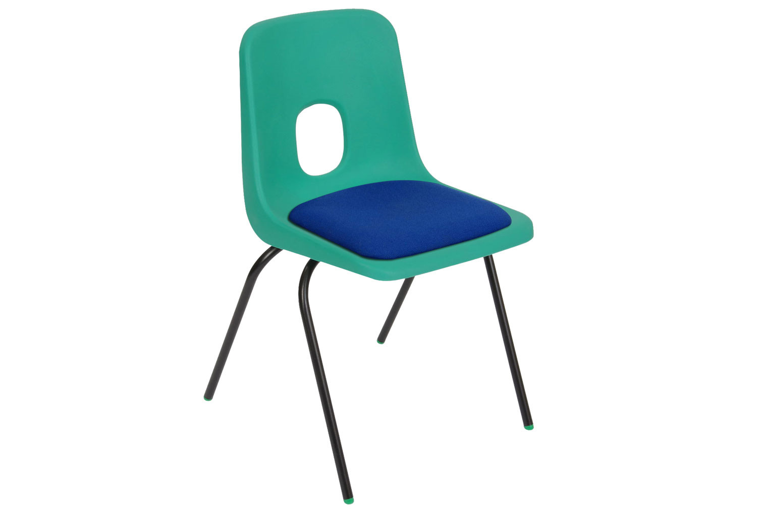 Hille E Series Chair With Upholstered Seat