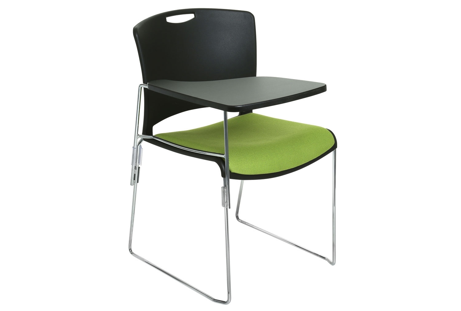 Alberta Chair With Upholstered Seat & Right Hand Writing Tablet