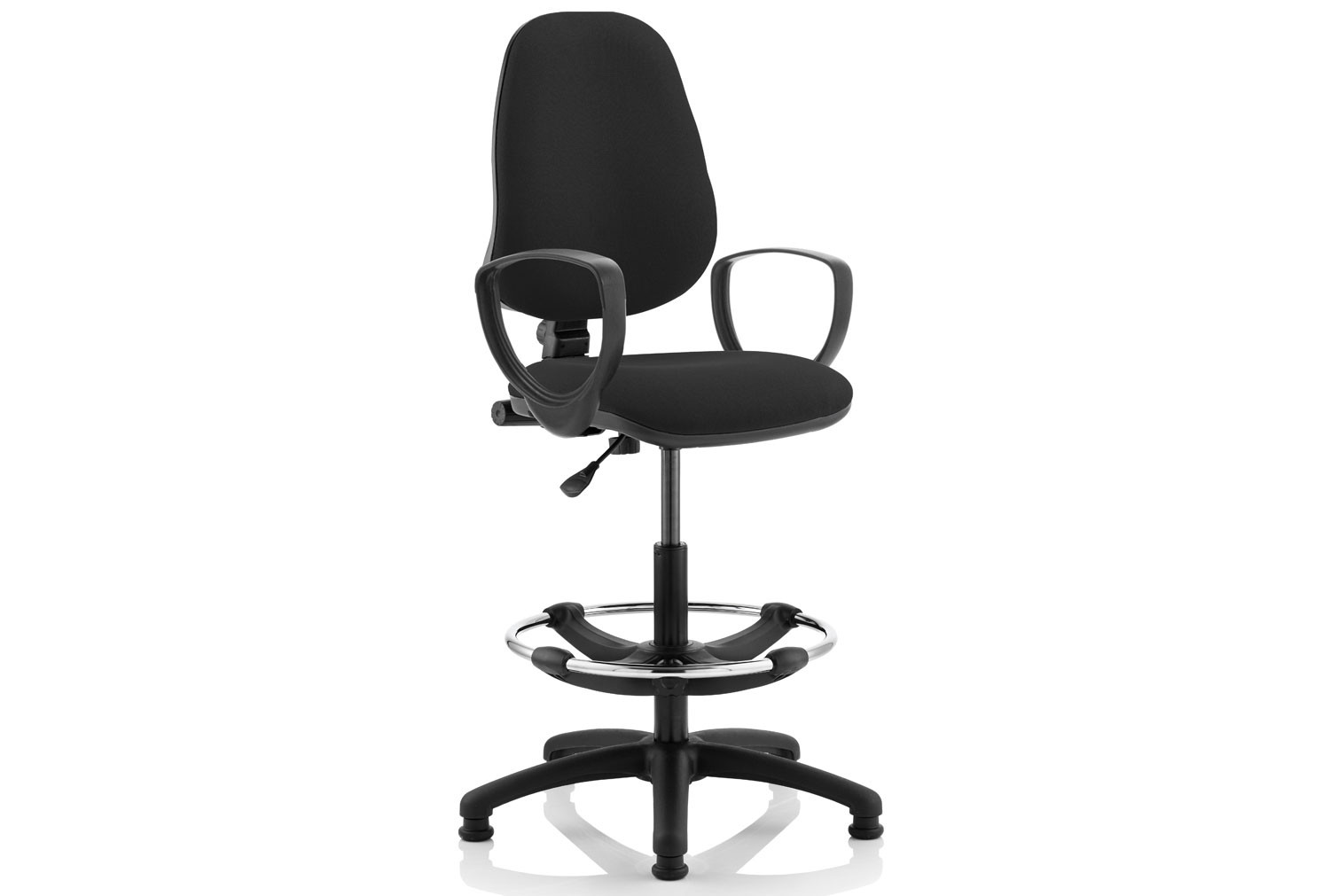 Lunar 1 Lever Draughtsman Chair (Fixed Arms)