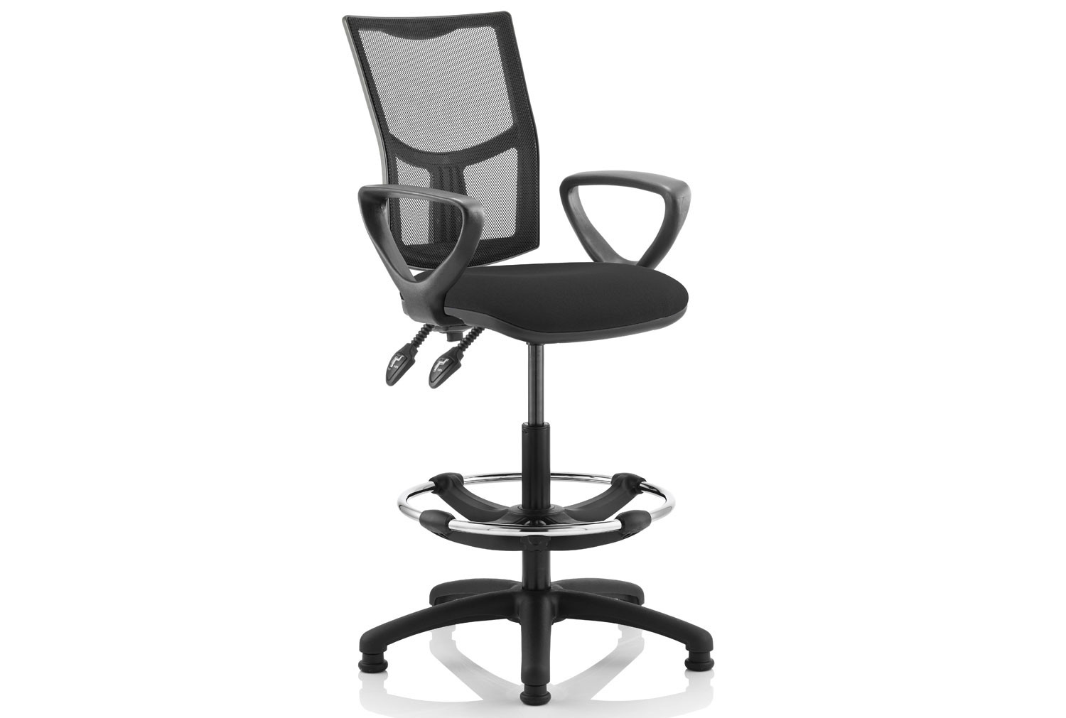 Lunar 2 Lever Mesh Back Draughtsman Chair (Fixed Arms)