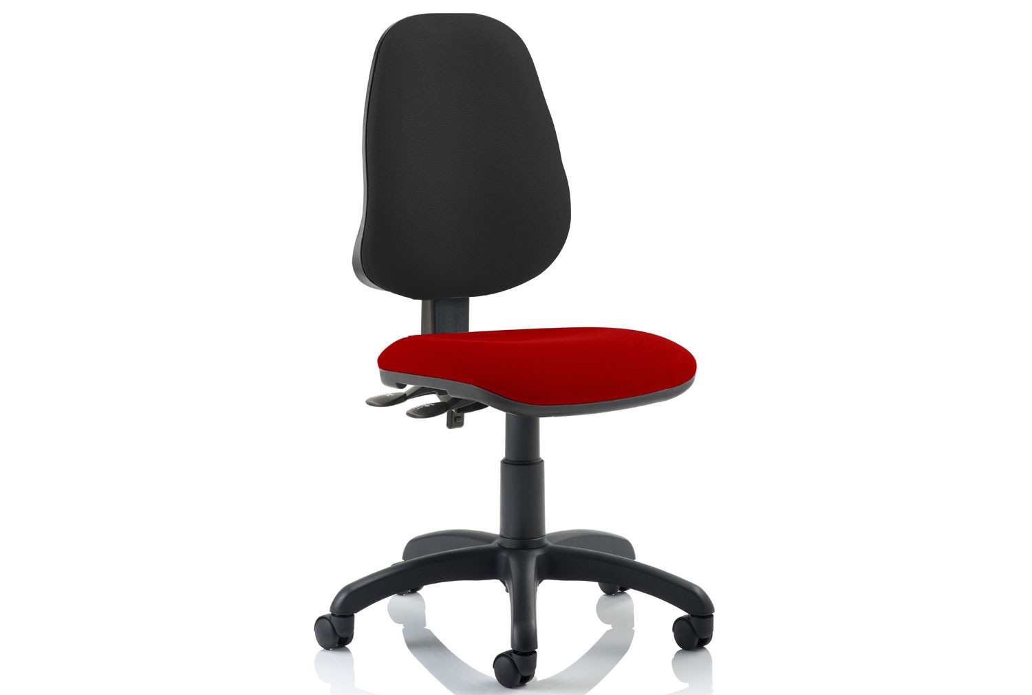 Astounding Lunar 2 Lever Two Tone Fabric Operator Chair No Arms Pdpeps Interior Chair Design Pdpepsorg