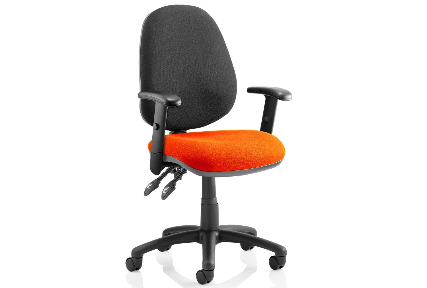 Solar Two Tone 2 Lever Fabric Chair (Adjustable Arms)