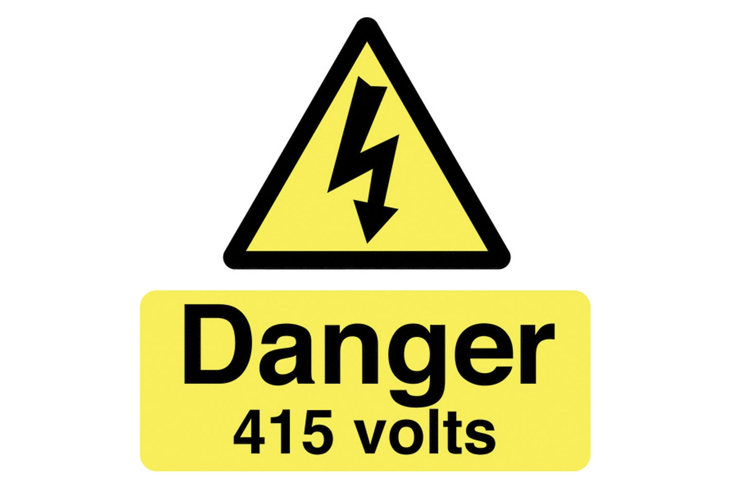 Danger 415 Volts Safety Label Multipack