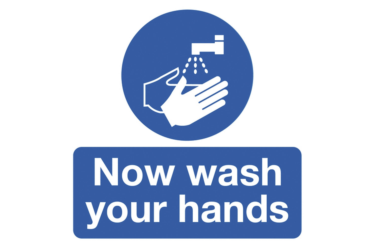 Now Wash Your Hands Safety Label Multipack