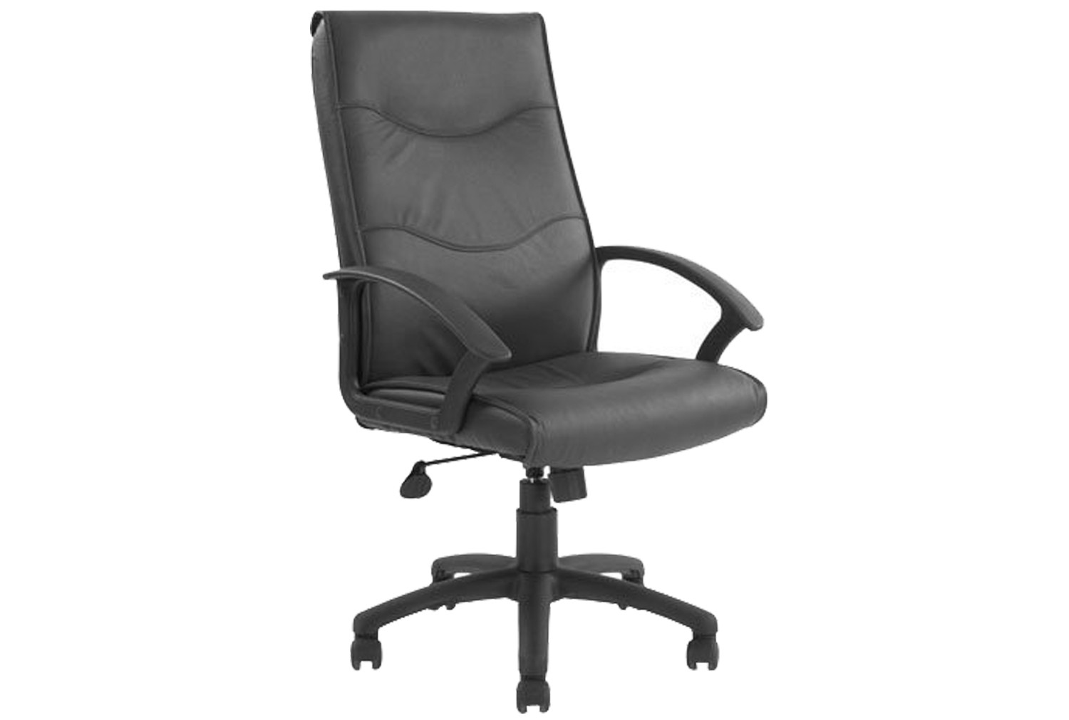 Next-Day Corbett High Back Leather Faced Chair
