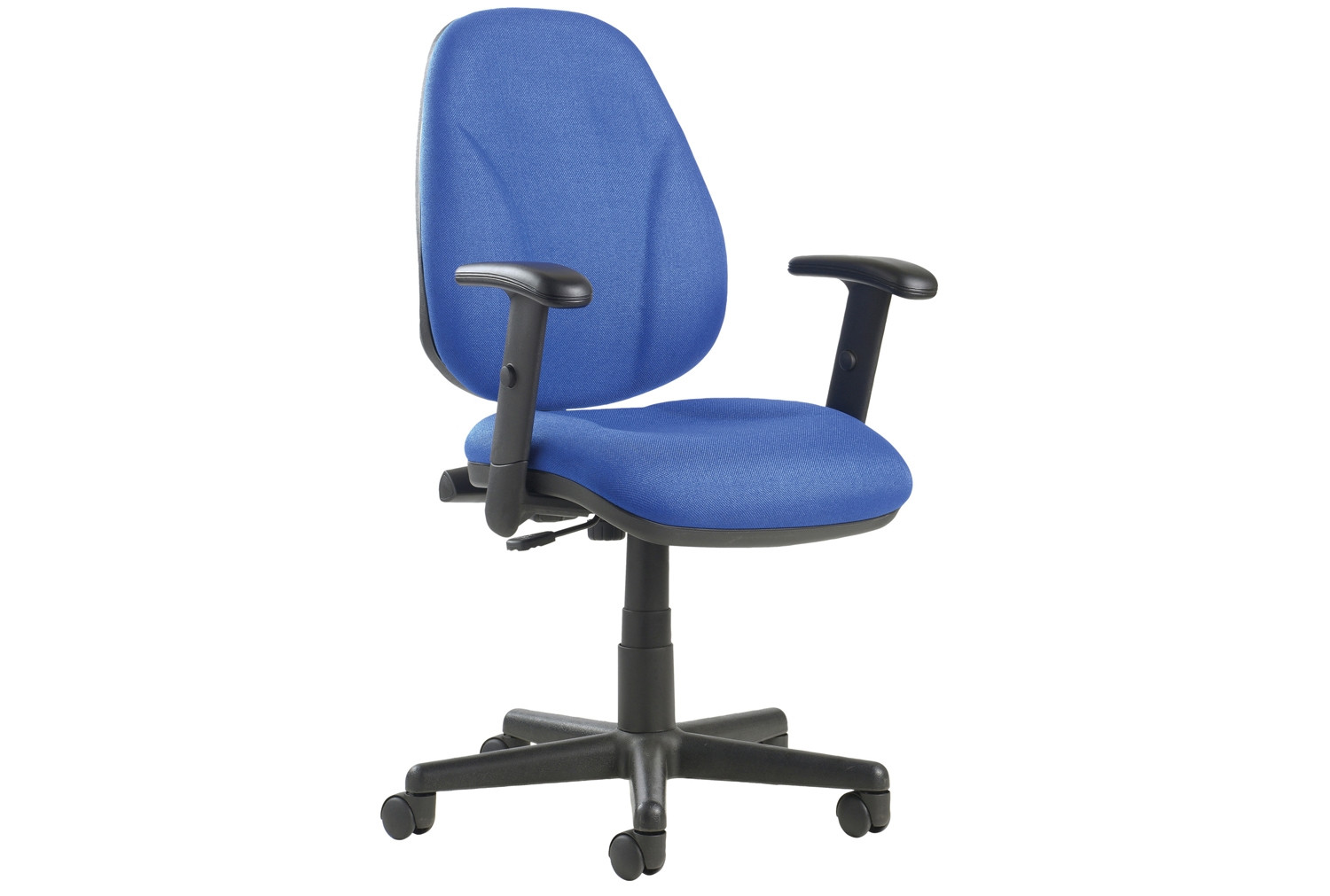 Next-Day Full Lumbar 1 Lever Operator Chair With Adjustable Arms