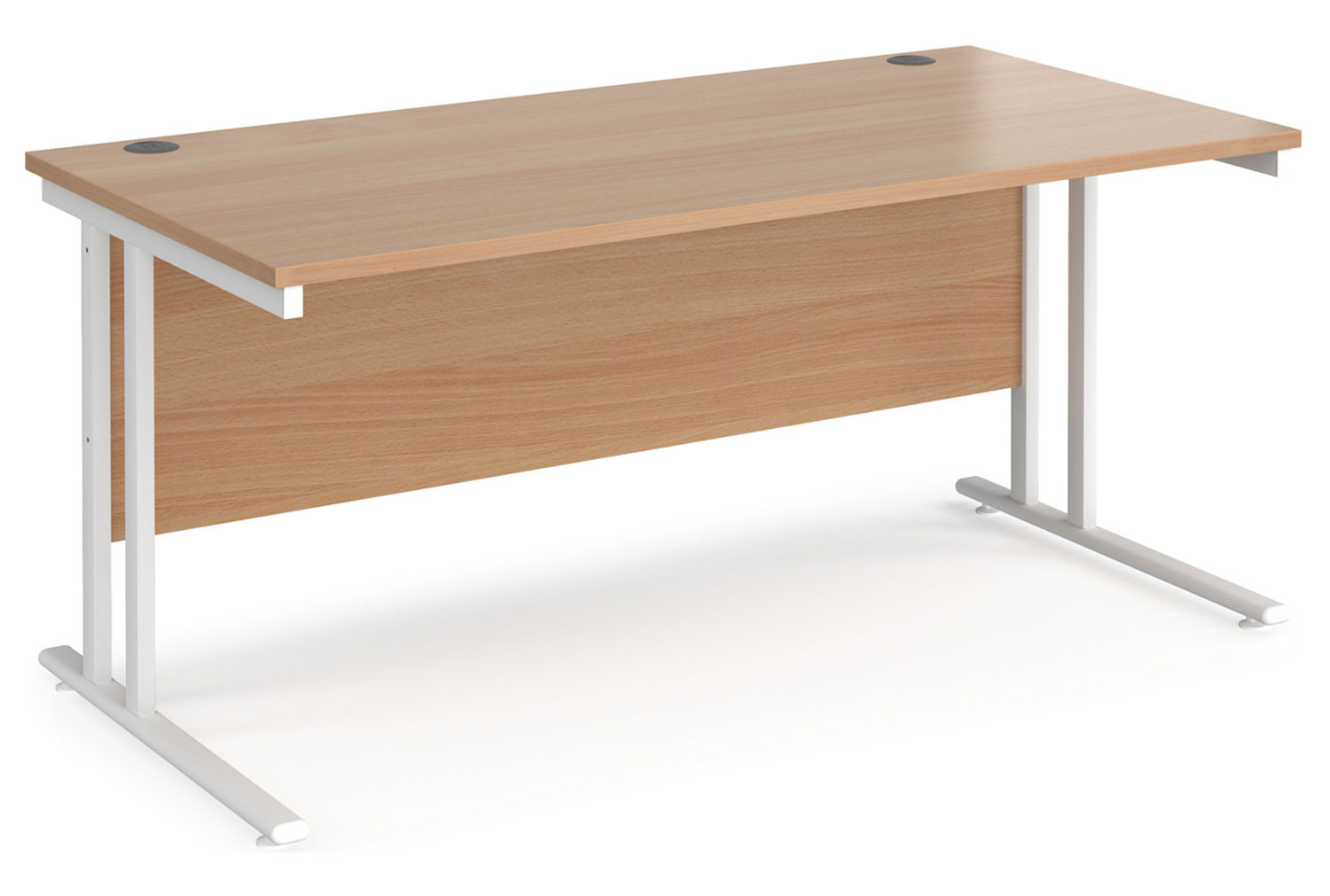 Value Line Deluxe C-Leg Rectangular Desk (White Legs)