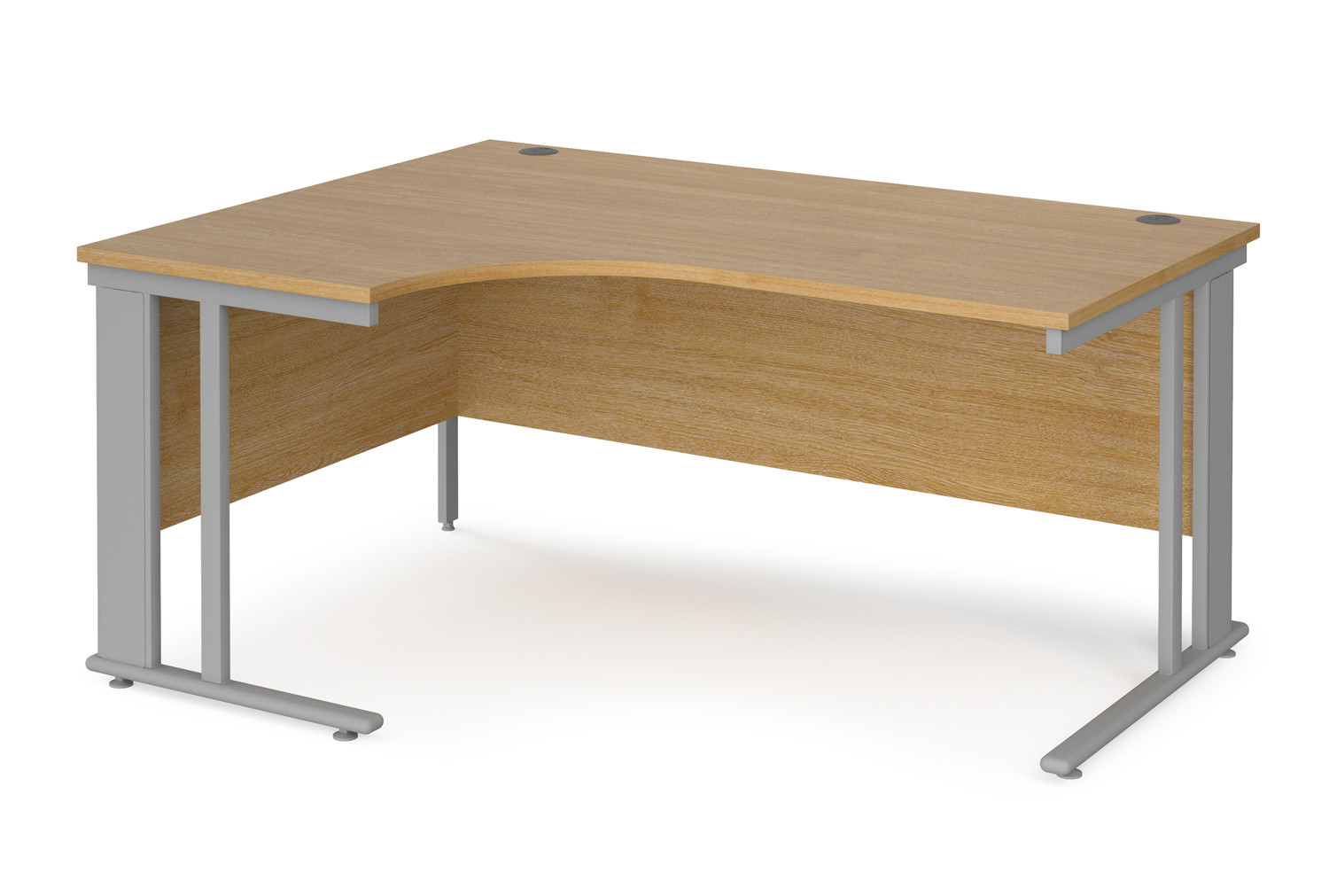 Value Line Deluxe Cable Managed Left Hand Ergo Desk (Silver Legs)