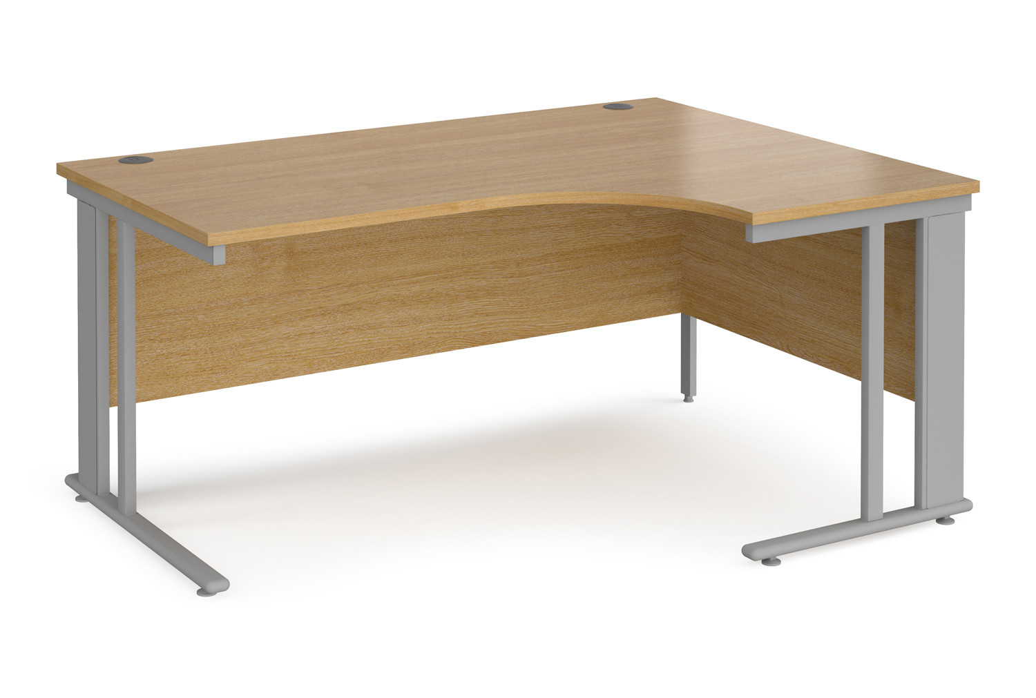 Value Line Deluxe Cable Managed Right Hand Ergo Desk (Silver Legs)